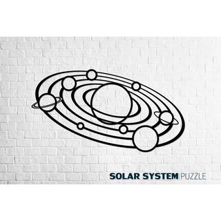 Wood Art Wall  Puzzle - Solar system