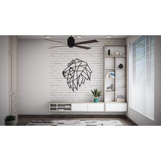 Wood Art Wall  Puzzle - Lion head