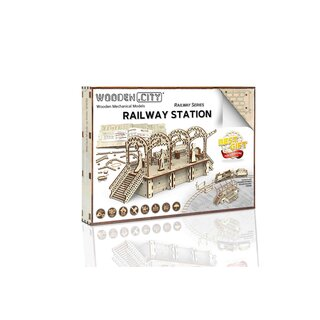 Railway station - Mechanical 3D wooden puzzle