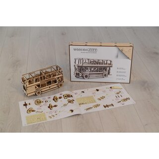London Bus- Kit de maquette 3D en bois