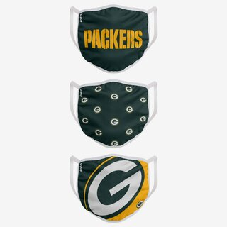 NFL Team Green Bay Packers - Face Covers 3 pack