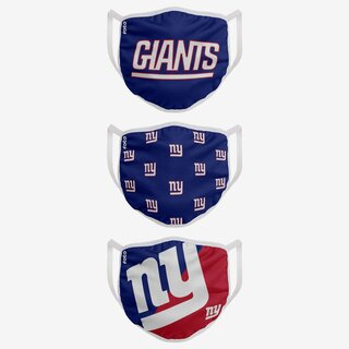 NFL Team New York Giants - Face Covers 3 pack