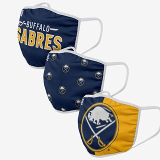 NHL Team Buffalo Sabres - Gesichtsmasken 3er Pack