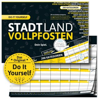 STADT LAND VOLLPFOSTEN® A4 - DO IT YOURSELF-EDITION - Dein Spiel